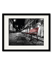 Night Bench Framed and Matted Art Collection