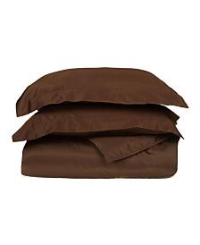Superior 530 Thread Count Premium Combed Cotton Solid Duvet Set - Twin