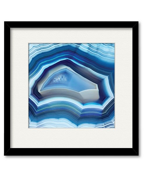 """Courtside Market Agate 16"""" x 16"""" Framed and Matted Art"""