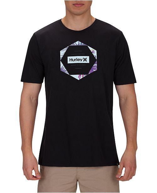 Hurley Men's Sierra Hex Gradient Graphic T-Shirt