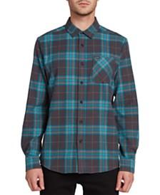 Volcom Men's Caden Herringbone Plaid Shirt