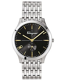 Men's Swiss Slim Stainless Steel Bracelet Watch 40mm