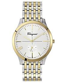 Men's Swiss Slim Two-Tone Stainless Steel Bracelet Watch 40mm