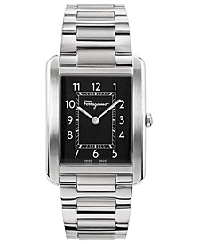 Men's Swiss Tank Gent Stainless Steel Bracelet Watch 31x41mm
