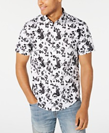 GUESS Men's Gothic Roses Shirt