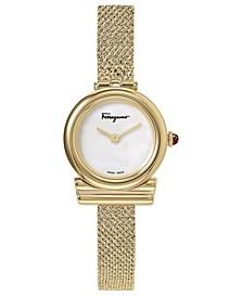 Women's Swiss F-80 Gold-Tone Stainless Steel Bracelet Watch 22mm