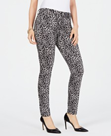 I.N.C. INCEssential Leopard Skinny Jeans, Created for Macy's