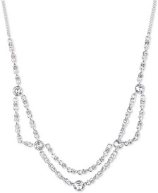 """Crystal Collar Necklace, 16"""" + 3"""" extender"""