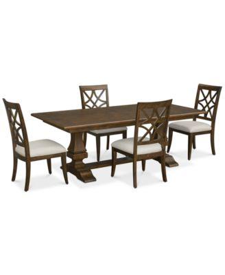 Trisha Yearwood Trisha Dining Furniture, 5-Pc. Set (Expandable Table & 4 Side Chairs)