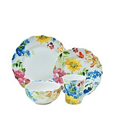 Annalise Spring 16 Piece Porcelain Dinnerware Set