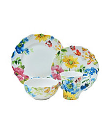 222 Fifth Annalise Spring 16 Piece Porcelain Dinnerware Set