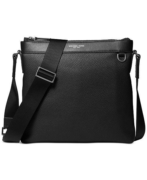 Michael Kors Men's Greyson Leather Crossbody Bag