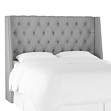 King Nail Button Tufted Wingback Headboard