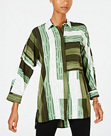 Striped Colorblocked Shirt, Created for Macy's