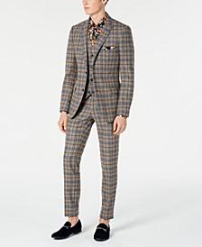 Slim-Fit Check Suit