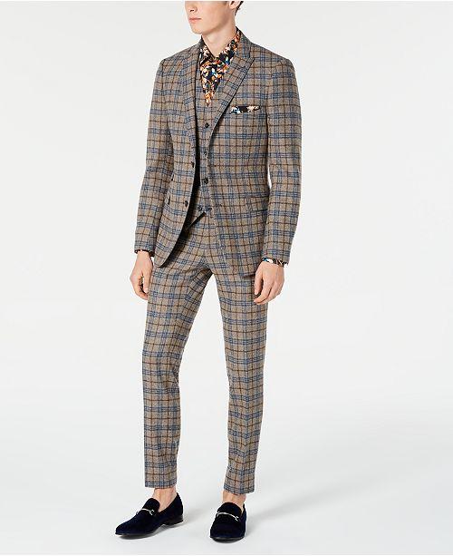 Paisley & Gray Slim-Fit Check Suit
