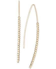 Beaded Threader Earrings in 14k Gold