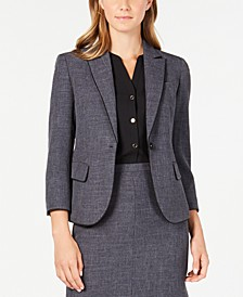 Piping-Trim Melange Blazer