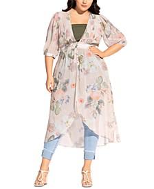Trendy Plus Size Summer Rose Jacket