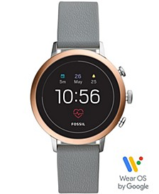 Women's Tech Venture Gen 4 HR Gray Silicone Strap Touchscreen Smart Watch 40mm, Powered by Wear OS by Google™