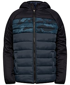 Toddler Boys Pronto Printblock Puffer Hooded Jacket