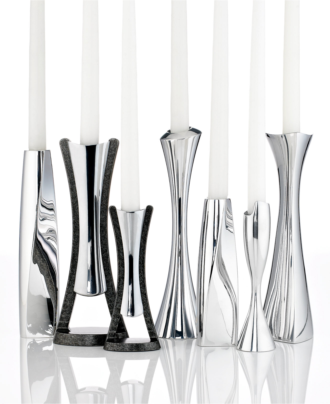 candlesticks  macy's - nambe candlestick collection