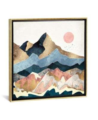 """Golden Peaks by Spacefrog Designs Gallery-Wrapped Canvas Print - 37"""" x 37"""" x 0.75"""""""