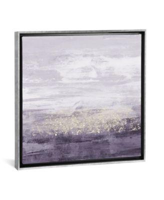 "Amethyst Glitter Ii by Jennifer Goldberger Gallery-Wrapped Canvas Print - 18"" x 18"" x 0.75"""