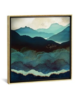 Indigo Mountains by Spacefrog Designs Gallery-Wrapped Canvas Print - 37