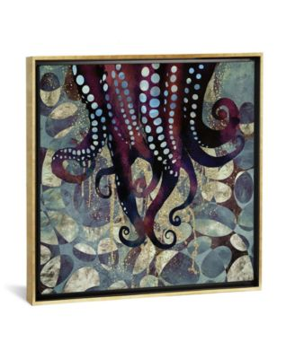 """Metallic Ocean Ii by Spacefrog Designs Gallery-Wrapped Canvas Print - 37"""" x 37"""" x 0.75"""""""