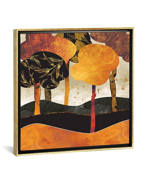 """iCanvas Metallic Forest by Spacefrog Designs Gallery-Wrapped Canvas Print - 26"""" x 26"""" x 0.75"""""""