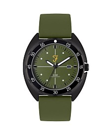 Farah Men's the Sport Collection Khaki Silicone Strap Watch 43mm