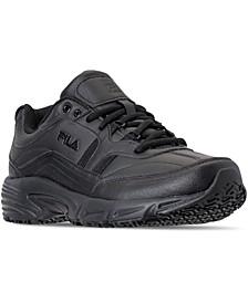 Men's Memory Workshift Slip Resistant Work Sneakers from Finish Line