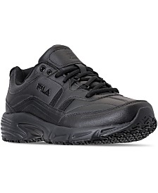 Fila Men's Memory Workshift Slip Resistant Work Sneakers from Finish Line