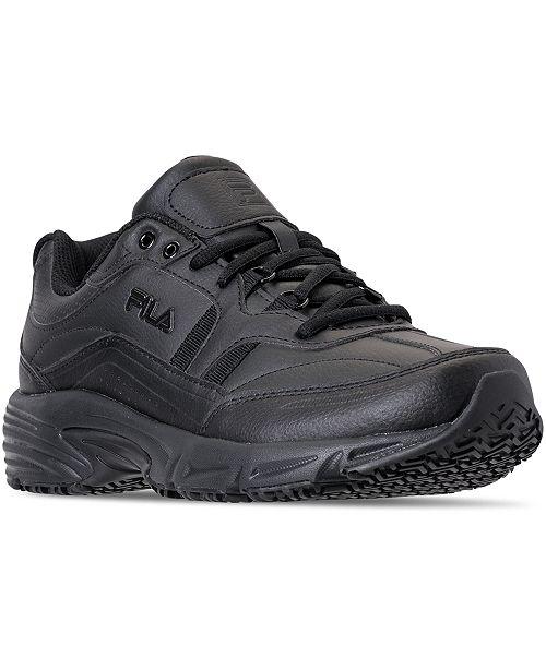 Fila Men's Memory Workshift Slip Resistant Work Sneakers from Finish Line