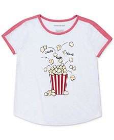 Calvin Klein Big Girls Popcorn T-Shirt