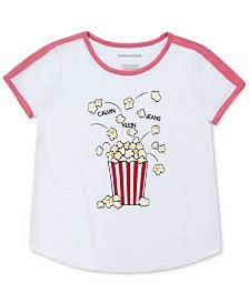 Calvin Klein Big Girls Popcorn T-Shirt