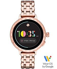 Women's Scallop Rose Gold-Tone Stainless Steel Touchscreen Smart Watch 41mm, Powered by Wear OS by Google™