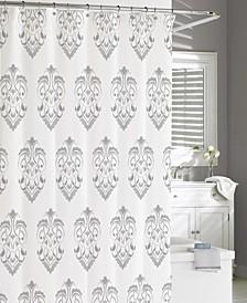 Cotton Printed Crest Shower Curtain