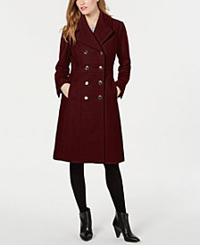 GUESS Double-Breasted Peacoat