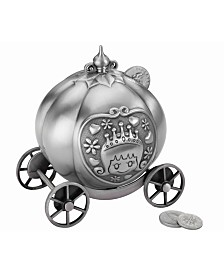Lillian Rose Fairy Tale Coach Pewter Coin Bank