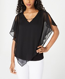 BCX Juniors' Embellished Popover Top