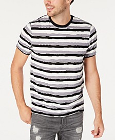 Men's Distressed Striped T-Shirt