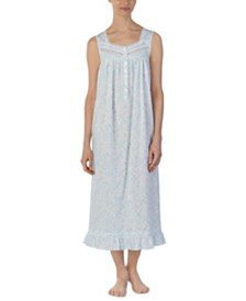 Eileen West Printed Venise Lace Cotton Ballet Nightgown