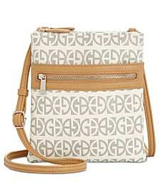 Triple-Zip Block Signature Dasher Crossbody, Created for Macy's