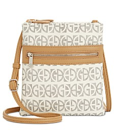 Giani Bernini Triple-Zip Block Signature Dasher Crossbody, Created for Macy's