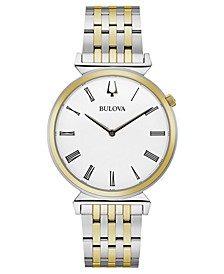 Men's Regatta Two-Tone Stainless Steel Bracelet Watch 38mm