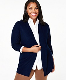 Plus Nicki Cashmere Cardigan, Created for Macy's
