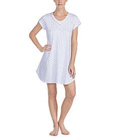 Eileen West Floral-Print Cotton Sleep Shirt
