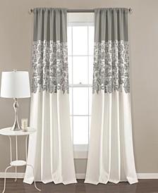 """Estate Garden Lace Print 52"""" x 84"""" Curtain Set"""